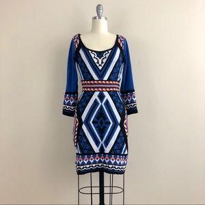 Flying Tomato Geometric Print Sweater Dress